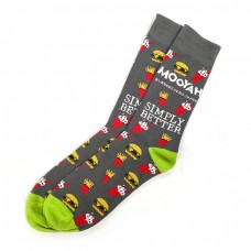 MOOYAH Socks (Gray/Green)