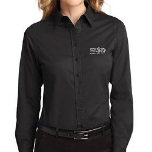 Black Button Up Shirt (Women)